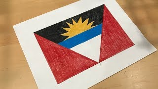How to Draw the Antigua Barbuda Flag | Flag Speed Draw