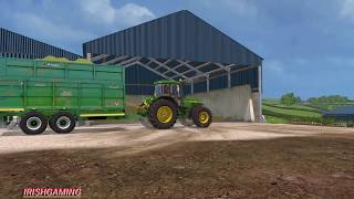 Farming Simulator 15 SILAGE with johndeeres on  Cennen Valley