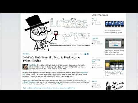 LULZSEC HACK 10,000 TWITTER ACCOUNTS - TweetGif gets Hacked by Lulzsec