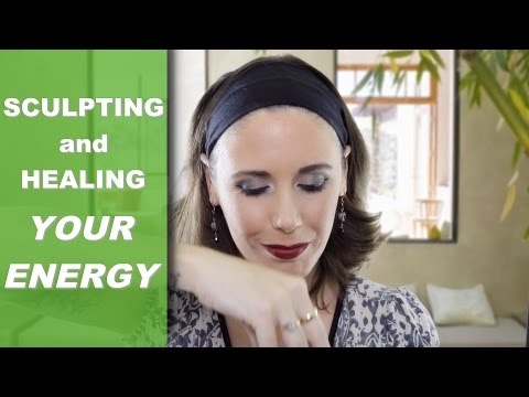 ASMR Reiki Role Play: Sculpting & Healing Your Energy (Hand Movements, Unintelligible Whispers)