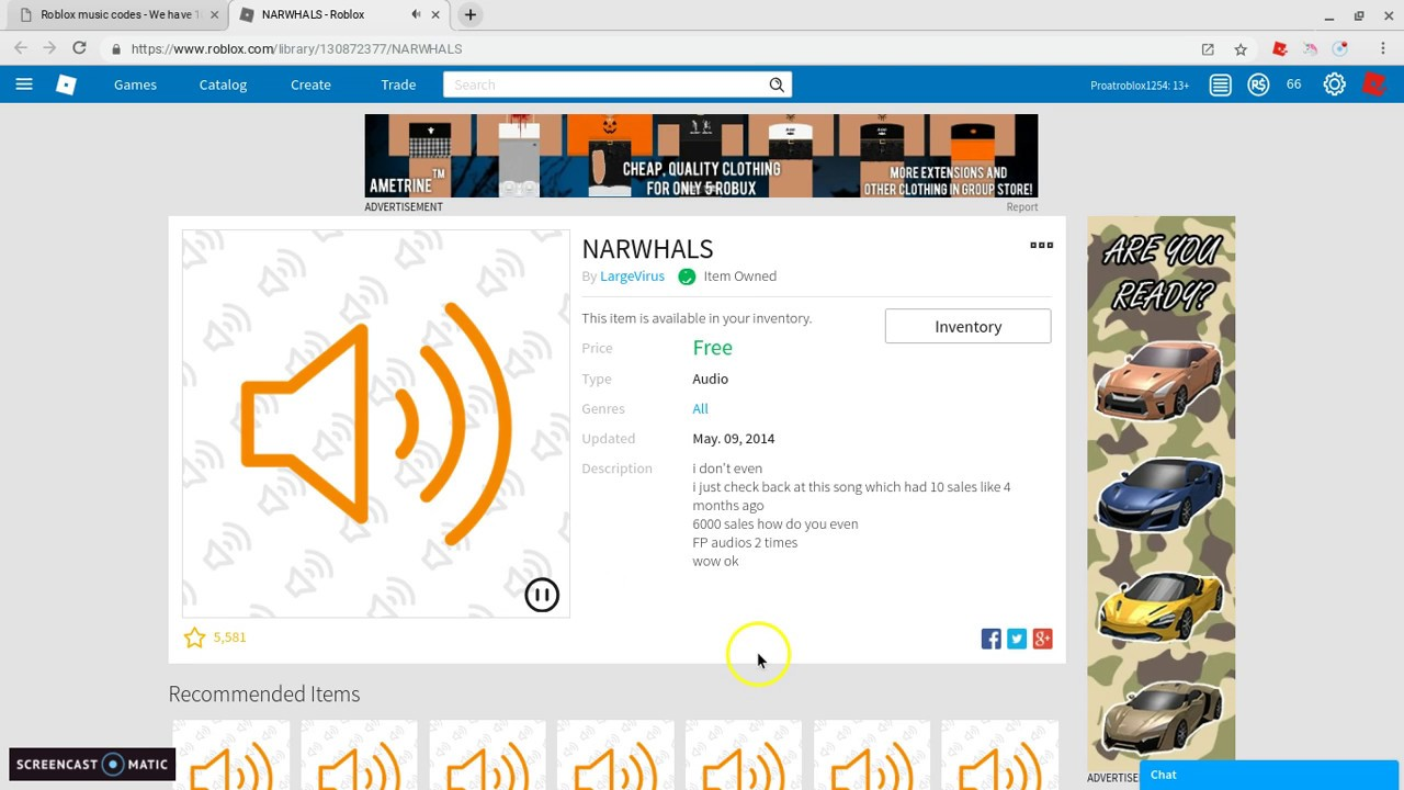 Narwhals Full Song Roblox Id Roblox Music Codes In 2020 Songs Roblox Listening To Music Narwhals Song And Music Id For Roblox Youtube