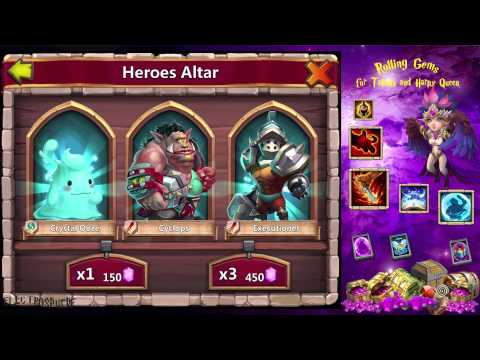 Castle Clash - 5th Attempt To Get Harpy Queen !
