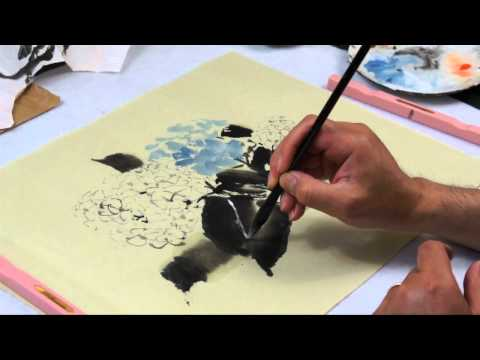 How to Paint Hydrangeas in Chinese Brush Painting with Henry