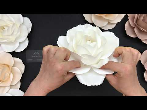 Small Rose / Paper Flower DIY Tutorial