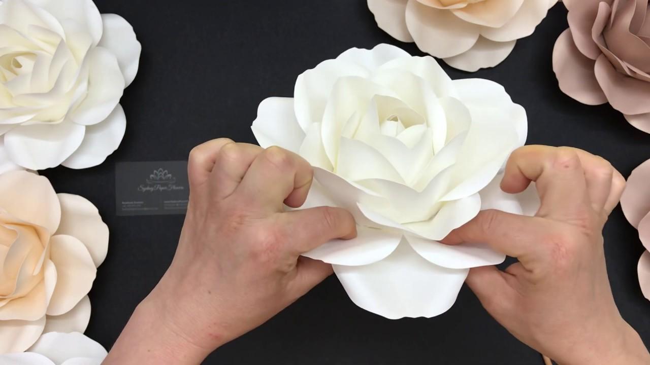 small rose    paper flower diy tutorial