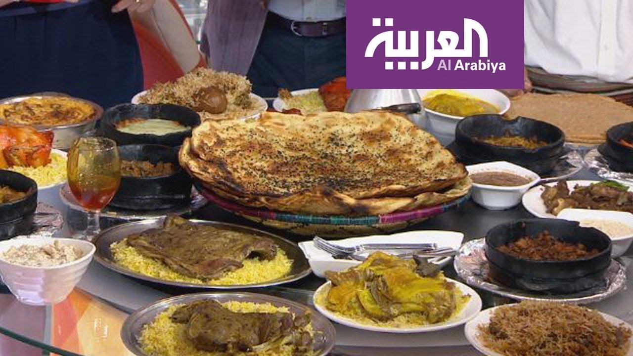 ec704d98fadcc أهم أطباق المطبخ اليمني على طاولة صباح العربية - YouTube