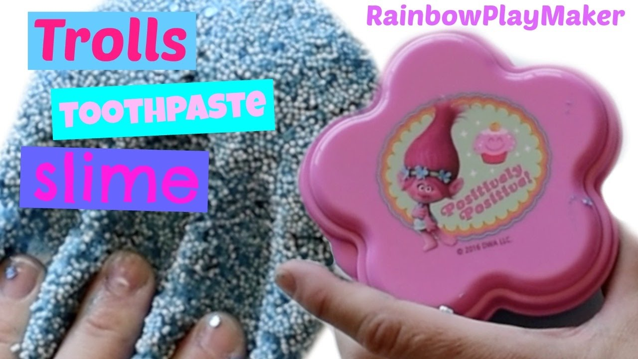 Diy Trolls Toothpaste Slime Test!! Without Borax! How To Make Floam!