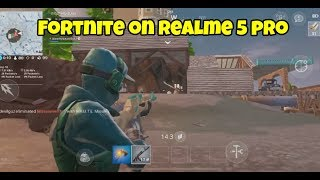 Fortnite on Realme 5 Pro Gameplay