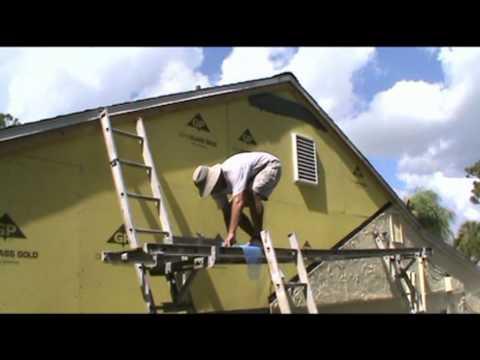 Stucco Over Densglass Mpg Youtube