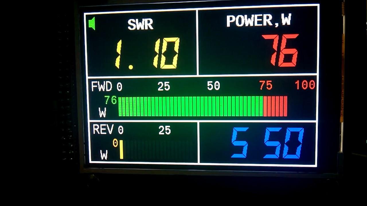 Digital Swr Power Meter : Digital swr meter with inch youtube