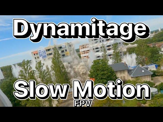 Démolition Bourges 30-05-21 | Plan FPV Slow Motion !
