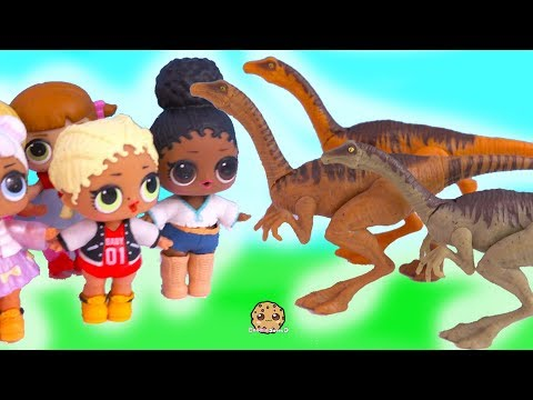 Dinosaur Field Trip with Jurassic World Dinos + Lol Surprise Dolls