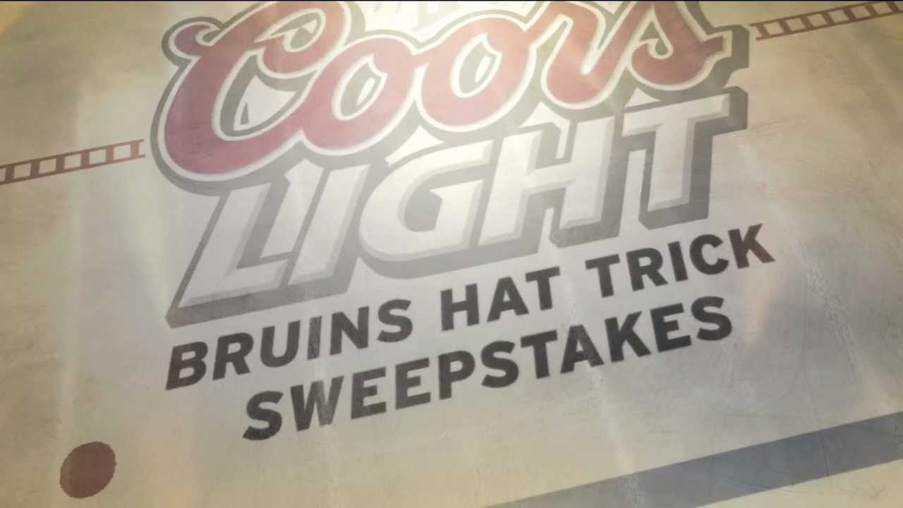 Coors Light Boston Bruins Hat Trick Sweepstakes | NESN com