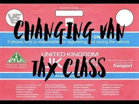 Convert Van To Camper Van DVLA Tax Class