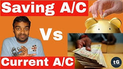Saving Account Vs Current Account | What is difference between Saving and Current Account - Hindi