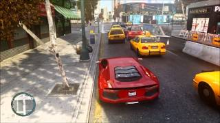 Grand Theft Auto IV Gameplay PC - Lamborghini Aventador