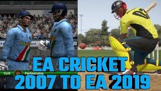 EA Sports Cricket 2007 to EA Sports Cricket 2019