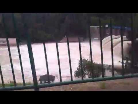 Brana jezera Modrac Lukavac stanje na 17.5.2014