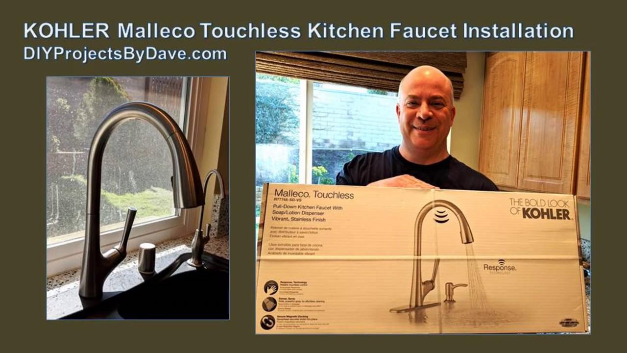 kohler malleco touchless kitchen faucet installation kohler faucetinstallation diyprojectsbydave