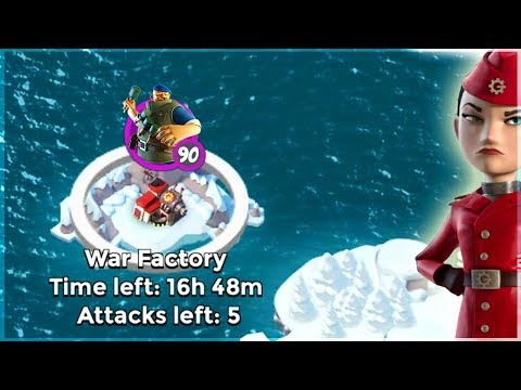 Boom Beach INSANE Grenadier Spam vs War Factory!!