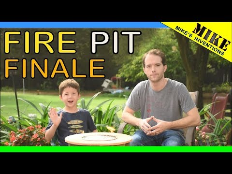 DIY Fire Pit Finale - Mikes Inventions