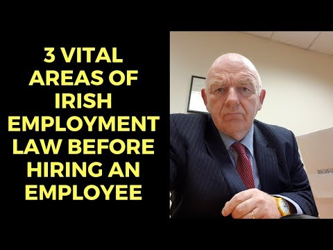 3 Vital Areas of Irish Employment Law Prior to Hiring a New Employee