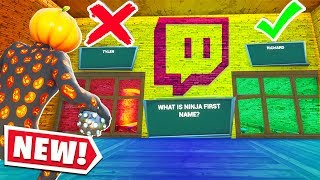 Someone Made a STREAMER BTW FORTNITE QUIZ.. (Fortnite Creative Mode)