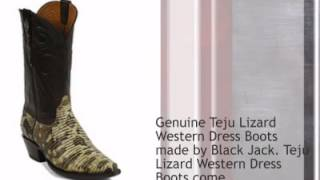 Black Jack Teju Lizard Cowboy Boots New Colors!!! - Timsboots.com