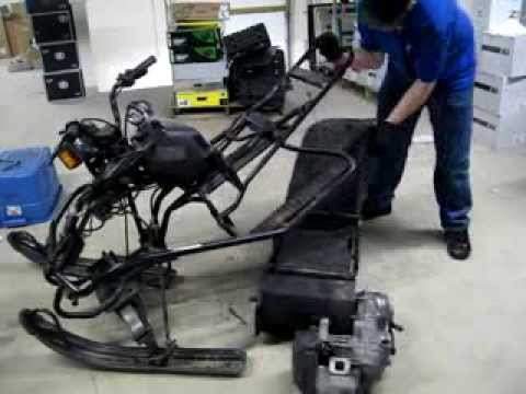 Removing the engine and rear suspension on a yamaha sno for Yamaha sno scoot