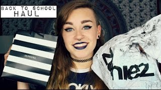 Try On College Clothing Haul   Sephora, Hot Topic, Zumies, etc...