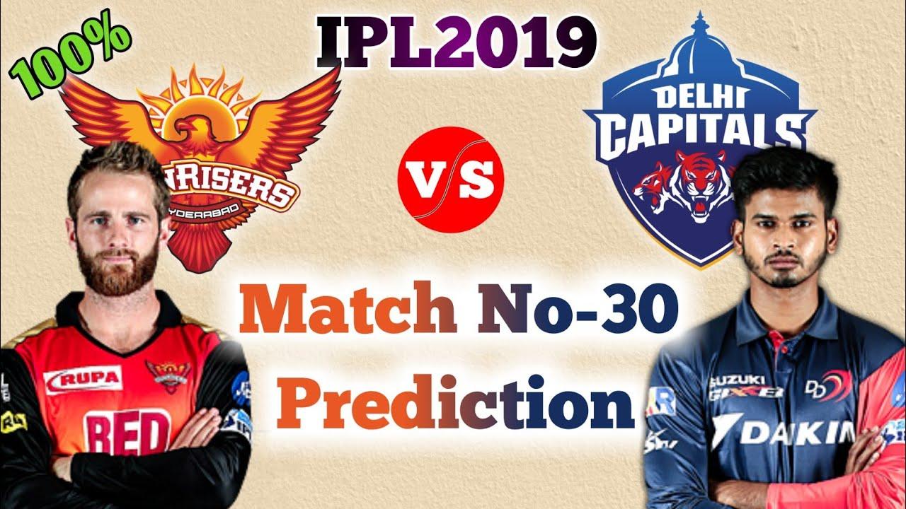 VivoIPL 2019 - SRH vs DC 30th Match Prediction | DC vs SRH Match Prediction | 14 Apr. Match