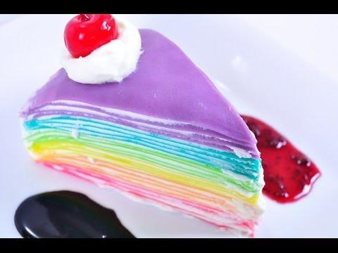 เครปเค้กสายรุ้ง Rainbow Crepe Cake