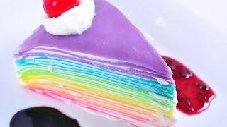 Repeat youtube video เครปเค้กสายรุ้ง Rainbow Crepe Cake