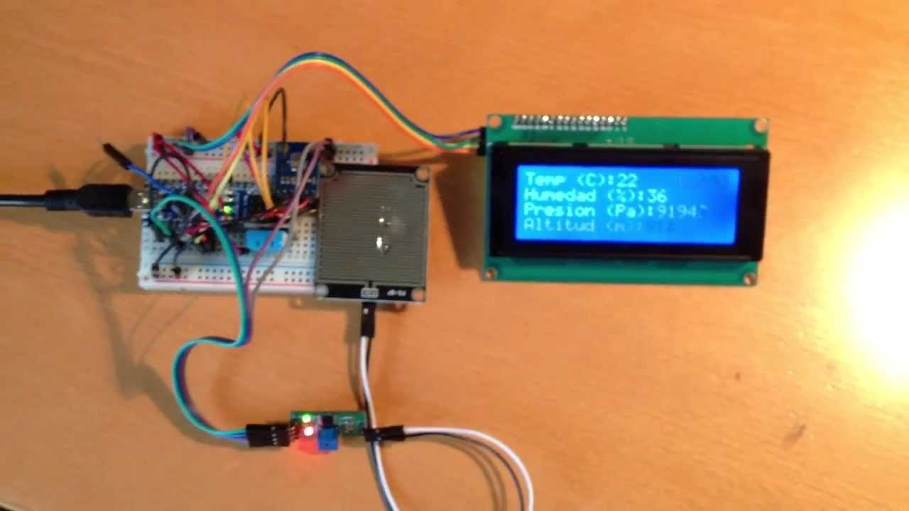 Arduino lcd sensors weather station youtube