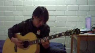 Gambar cover dino -Use Somebody- Kings of Leon acoustic cover