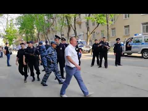 Задержания у отдела №6 УМВД в Воронеже