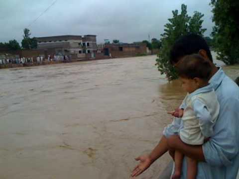 Flood Mardan 29/7/2010 Part 2 Hoti, Pirano Daga, Kalpani River Mardan