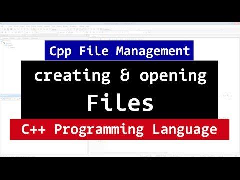 112 | C++ File Handling | Creating and Opening | fstream, ifstream, ofstream | CPP Video Tutorials