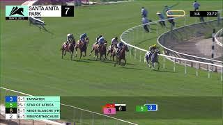 Neige Blanche wins the Santa Barbra Stakes (Grade III) on Saturday May 8, 2021 at Santa Anita Park.