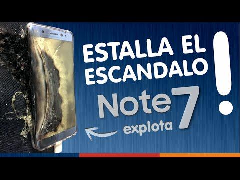 GALAXY NOTE 7 EXPLOTA + COMUNICADO DE SAMSUNG + DEVOLUCION