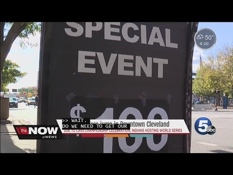 Parking hits $100 in Cleveland for World Series- Tara Molina
