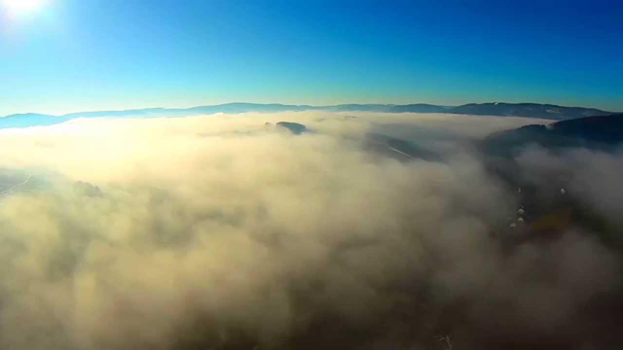 Yuneec q500 flying above the clouds flug 252 ber den wolken