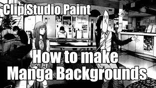 Clip Studio Paint: How to make Manga backgrounds