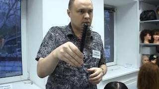 Укладка феном и скелетной щёткой  длинных волос