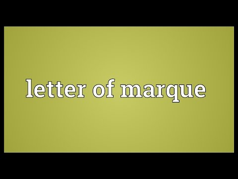 Letter of marque Meaning