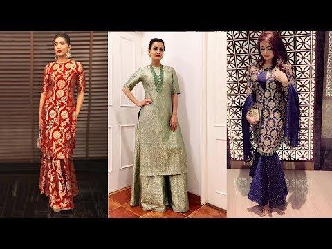 top-50-brocade-kurti-designs-  -latest-brocade-kurti-designs-2019