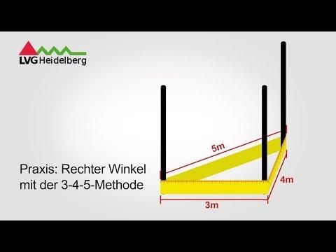 Berühmt Praxis: Rechter Winkel mit der 3-4-5 Methode - YouTube XB87