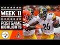 Steelers Vs. Browns | NFL Week 11 Game Highlights