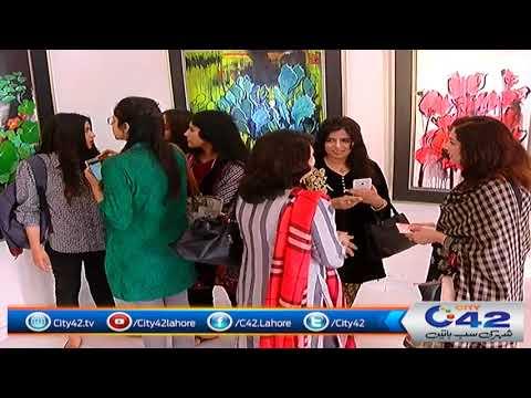 لاہور کی حامیل آرٹ گیلری میں پنجاب یونیورسٹی کے آرٹ اینڈ ڈیزائن ڈیپارٹمنٹ کے بنائے گئے فن پاروں