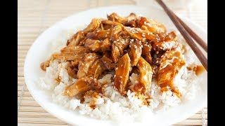 Курица с рисом в соусе терияки. Простой рецепт в описании под видео.